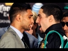WEIGH IN RESULTS! AMIR KHAN VS DANNY GARCIA LIVE OFFICIAL RESULTS! 7/13/12 GARCIA FATHER RACIST?