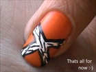 Orange Zebra Nails - how to nails designs to do at home easy nail art for beginners short tutorial