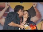 Nagarjuna Kissing Amala at Life Is Beautiful Movie Audio Function